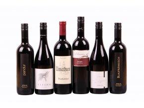 Degustační sada Rakousko - červená vína - výběr - 6 láhví