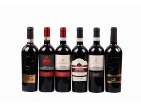 Degustační sada Itálie- červená vína - Toskánsko, Veneto, Piemonte - 6 láhví  ZVÝHODNĚNÁ CENA