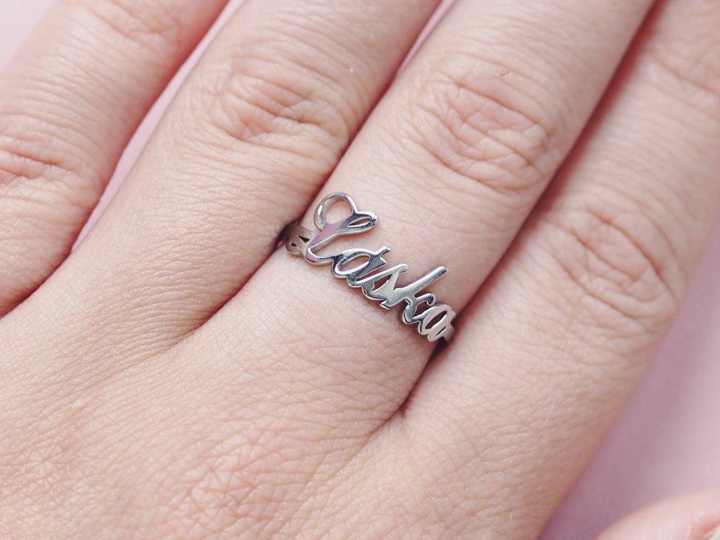 Prsten stříbrný Láska