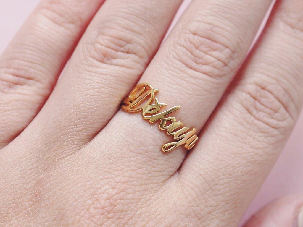Prsten zlatý Děkuju