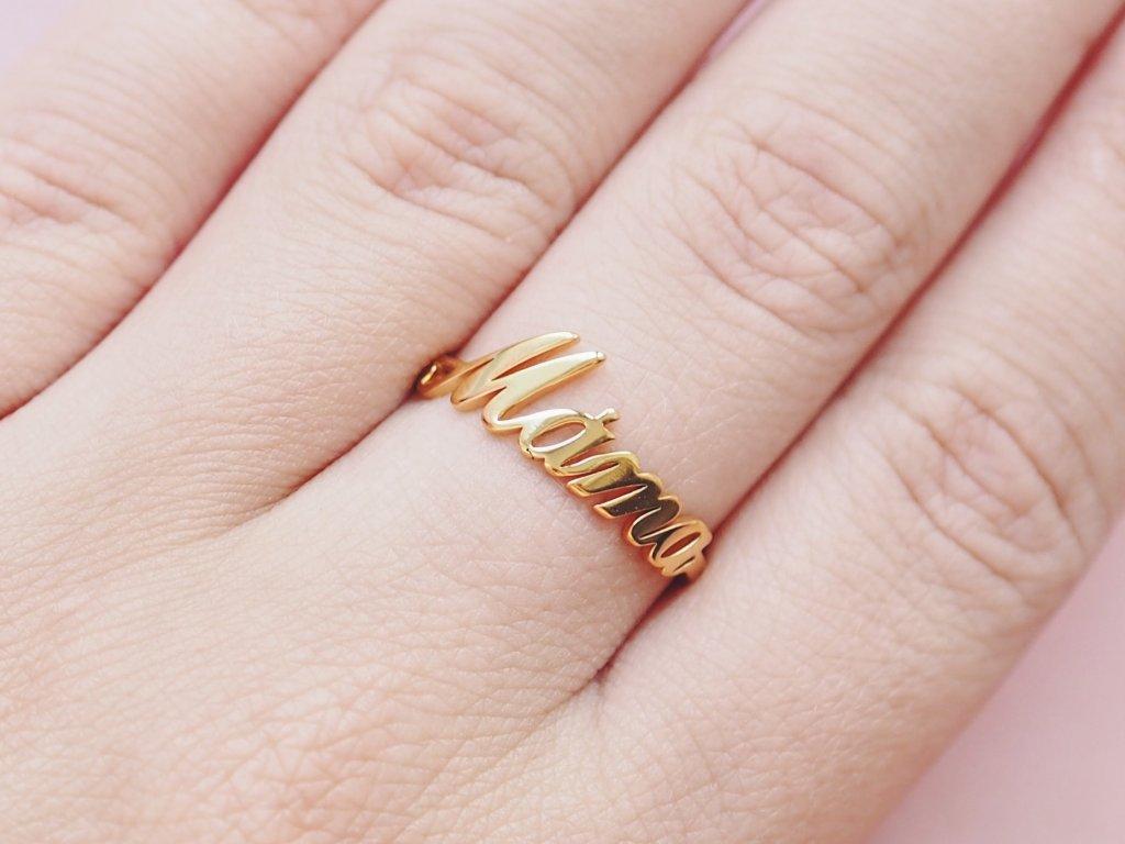 Prsten zlatý Máma
