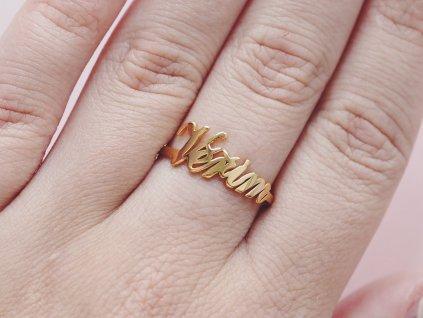 Prsten zlatý Věřím