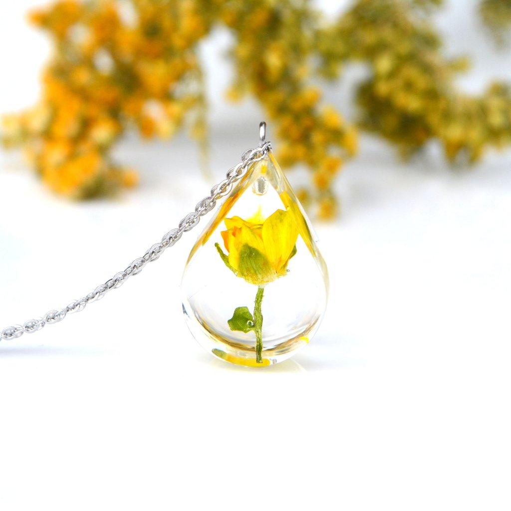 oranžová slaměnka náhrdelník (1)