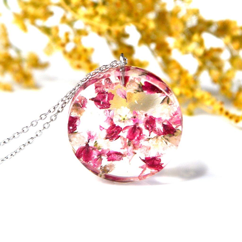 růžový náhrdelník vřes (1)