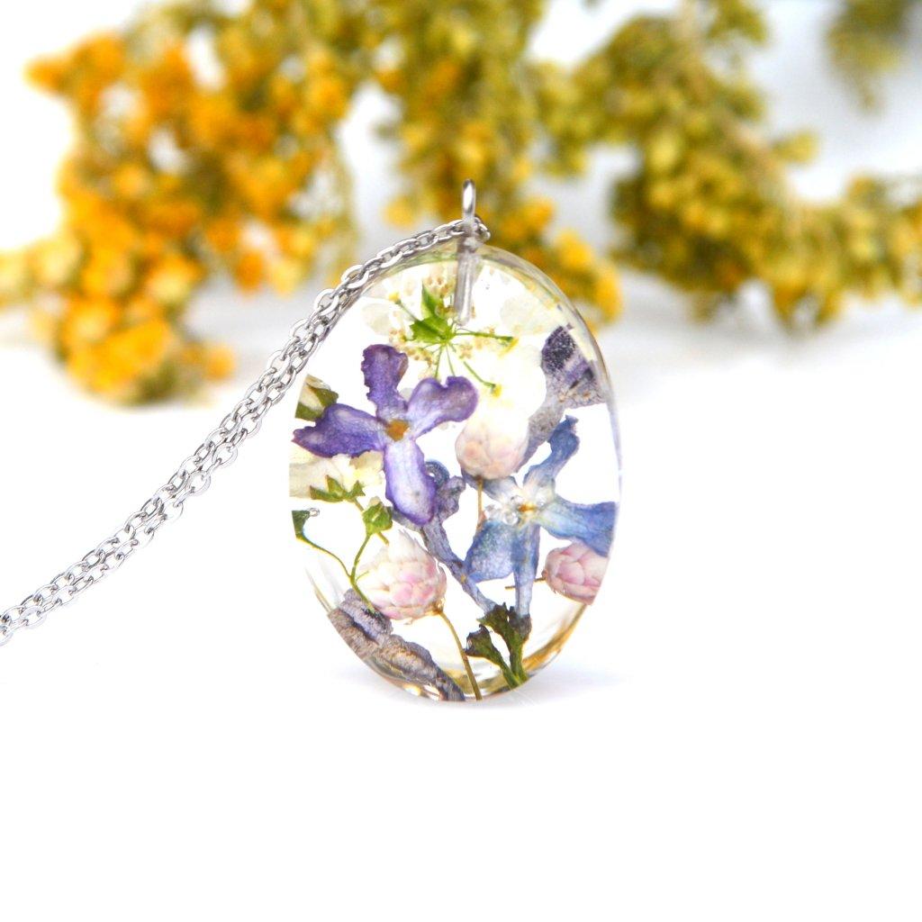 žlutofialový náhrdelník (2)