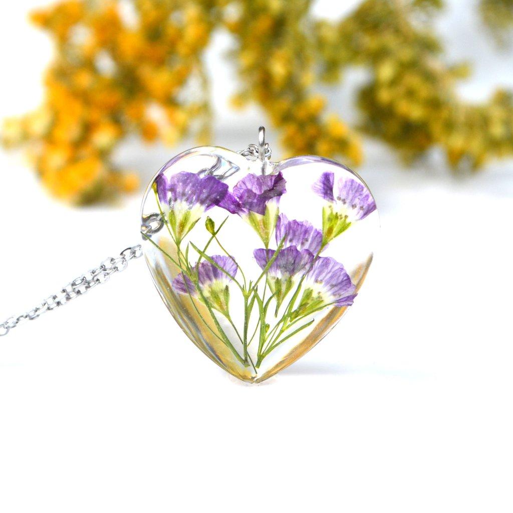 květinové srdíčko náhrdelník (1)
