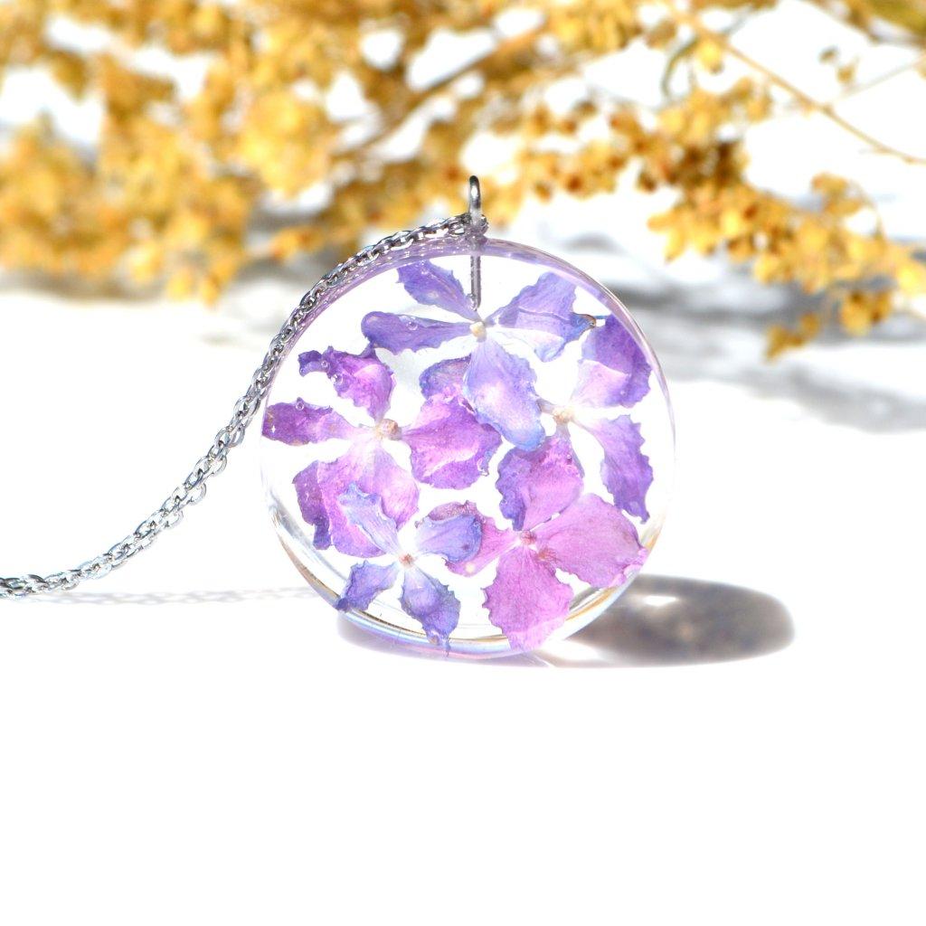 hortenzie náhrdelník