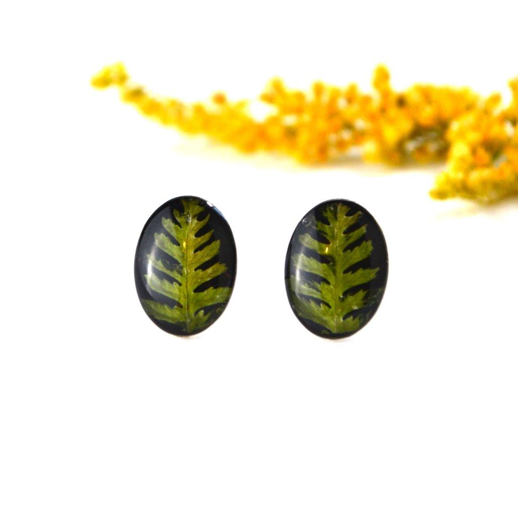 černo zelené náušnice (2)