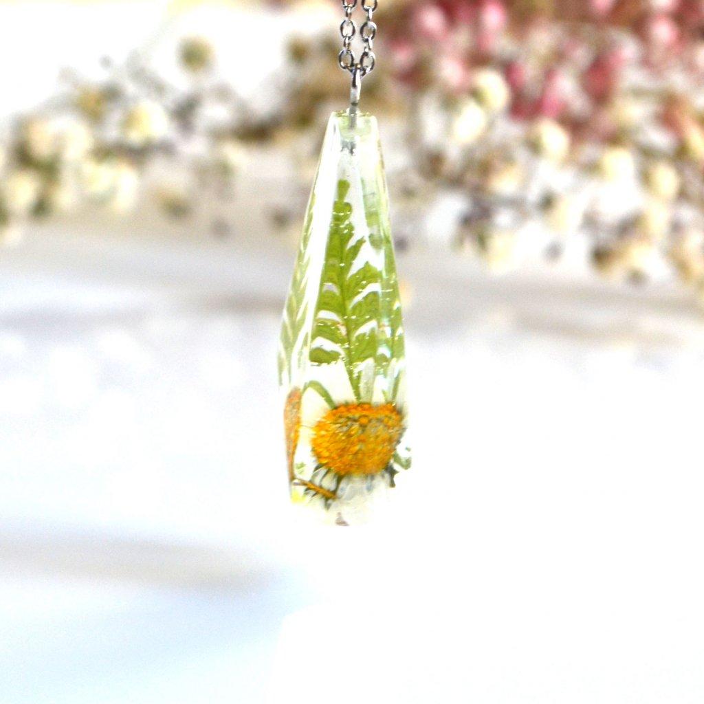náhrdelník sedmikráska s kapradím (8)