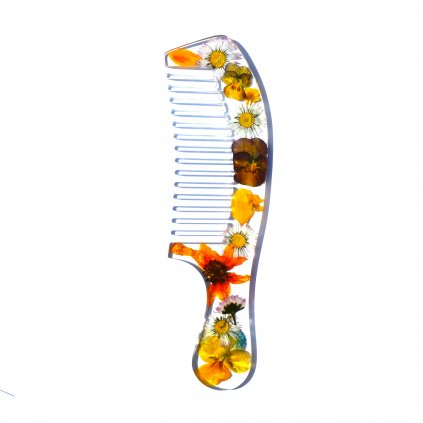 žlutý květinový hřeben (2)