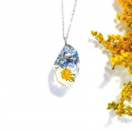 květinový diamant náhrdelník (2)