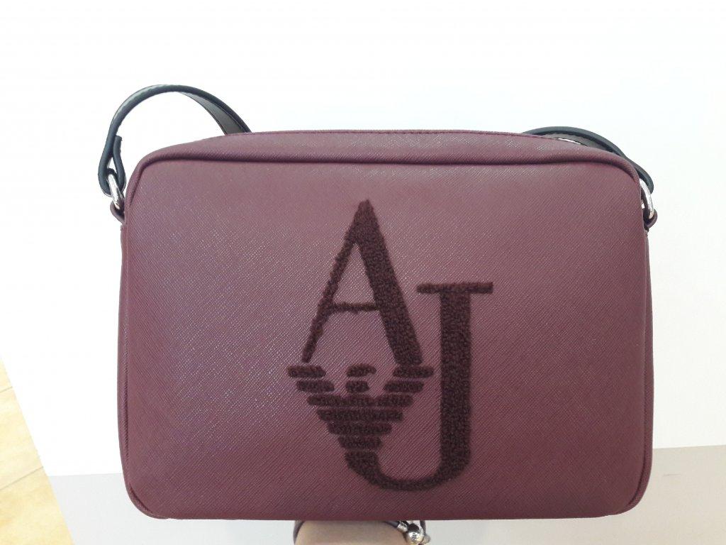 Dámská kabelka Armani Jeans 922338 7A805 BURGUNDY/NERO