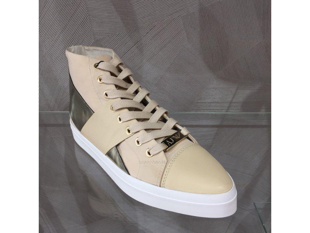 6950f04f8b ... Dámské tenisky Armani Jeans - béžovo-zlatá (Velikost 41) ...