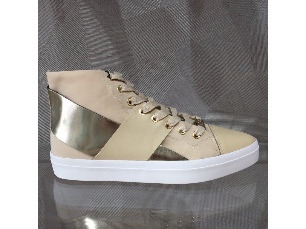 Dámské tenisky Armani Jeans - béžovo-zlatá (Velikost 41)