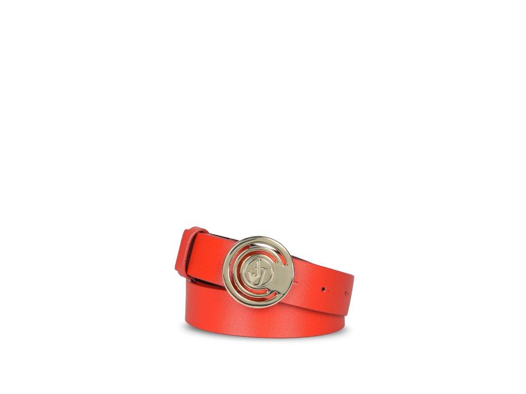 Dámský pásek Armani Jeans 921035 7P302 CERVENY