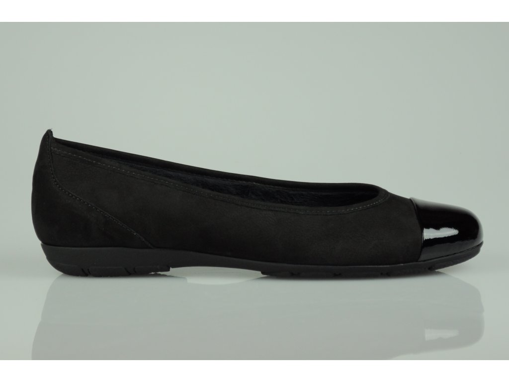 Gabor baleríny vyteplené černé (Velikost 40)