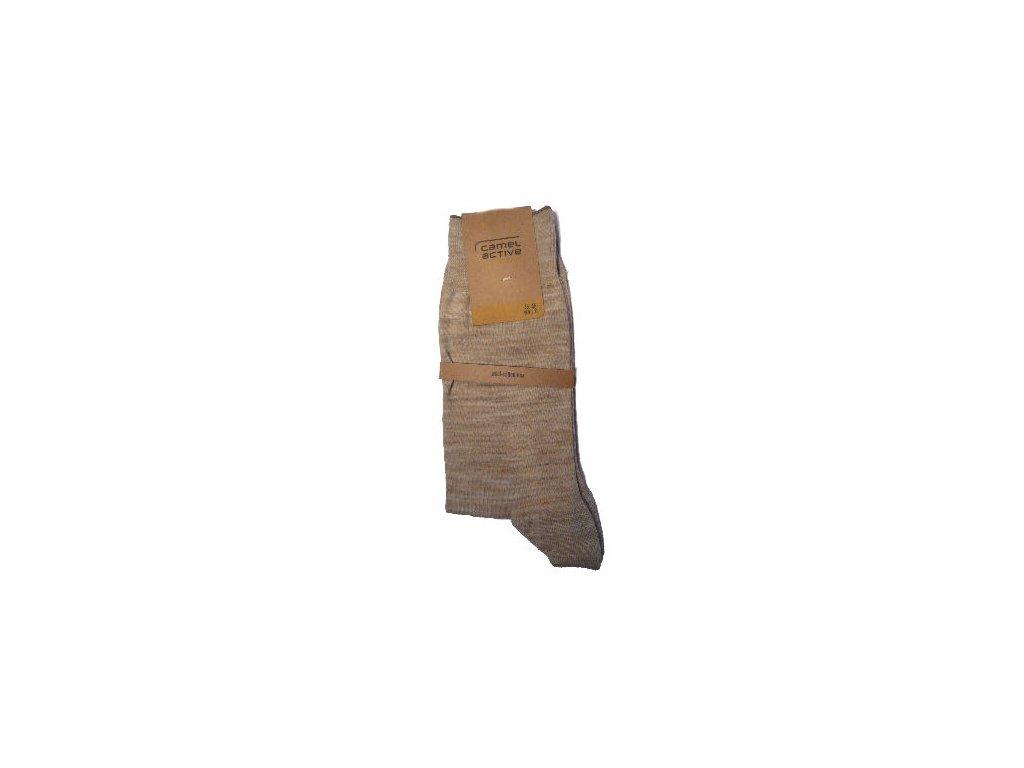 Ponožky Camel Active 6501790 béžové žíhané s vlnou (Velikost 47-50)