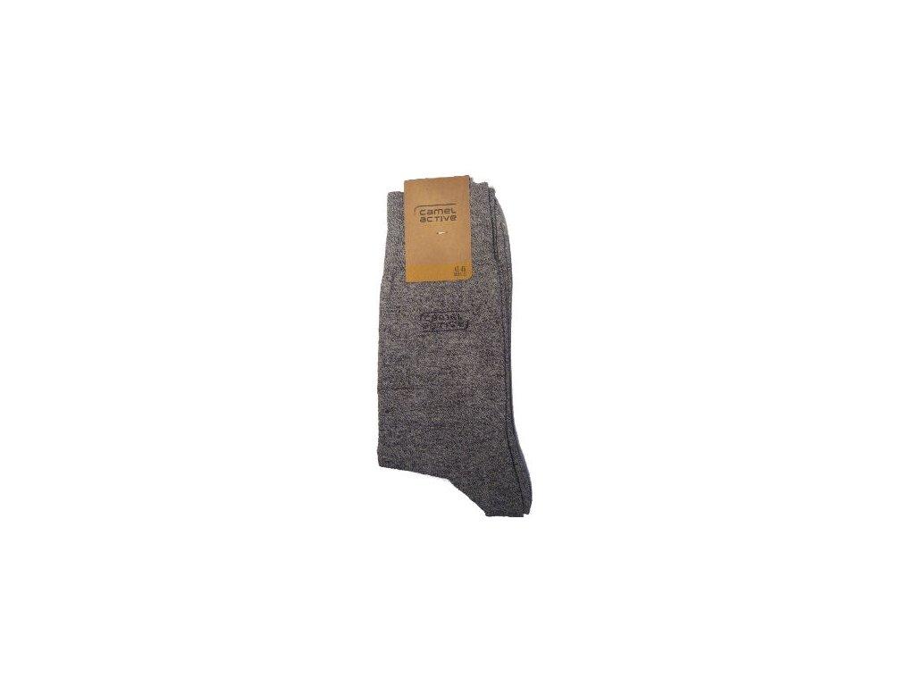 Ponožky Camel Active 6502150 šedé žíhané s vlnou (Velikost 47-50)