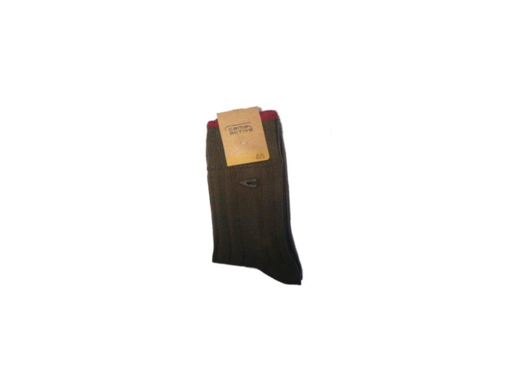 Ponožky Camel Active 6504891 khaki s lemem - zimní (Velikost 47-50)