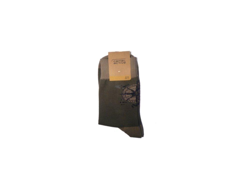Ponožky Camel Active 6506891 béžovo zelené (Velikost 47-50)