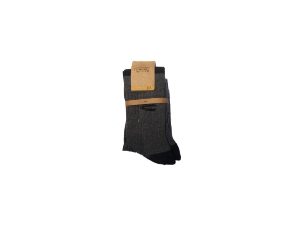 Ponožky Camel Active 6510620 šedé - dva páry (Velikost 47-50)