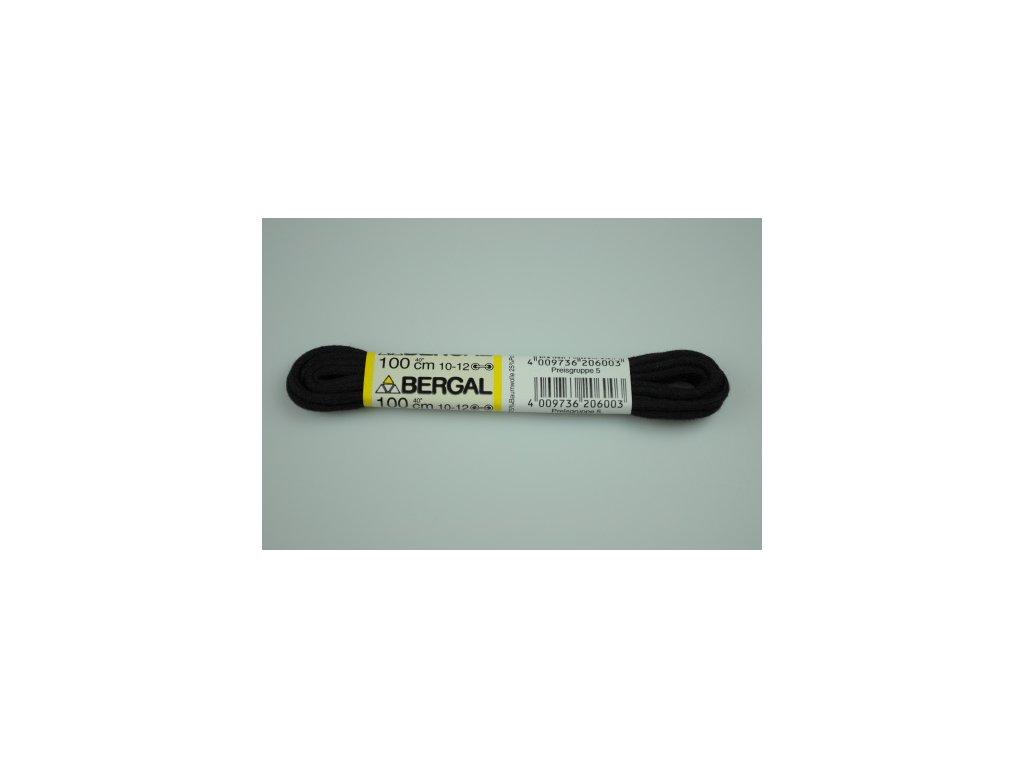 Tkaničky černé 100 cm (Velikost 100 cm)