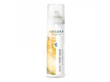 Saicara - Body Fizzy Gold - třpytivý gel na nohy, paže a dekolt