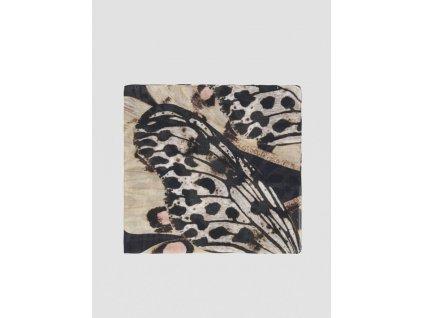 Butterfly print modal scarf TRUSSARDI JEANS 10 01 8051932169725 F