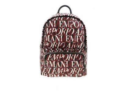 emporio armani contrasting logo pattern backpack in black y4o250 yi46e 81499 280ba25a cdc1 4cfd b2a5 23251e4675ba
