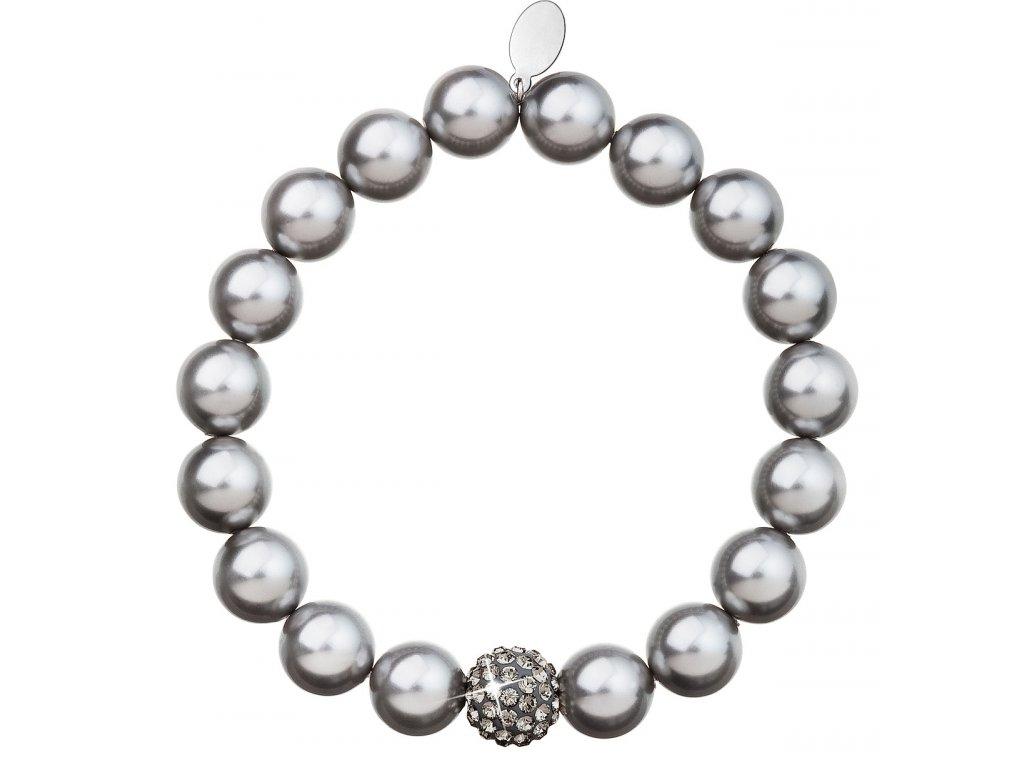 Perlový náramek šedý 33074.3