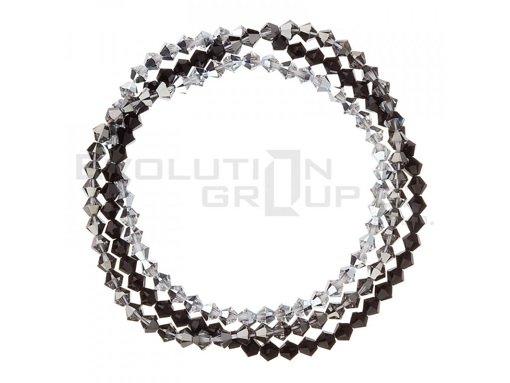 Náramek se Swarovski krystaly stříbrný 33081.5 silver
