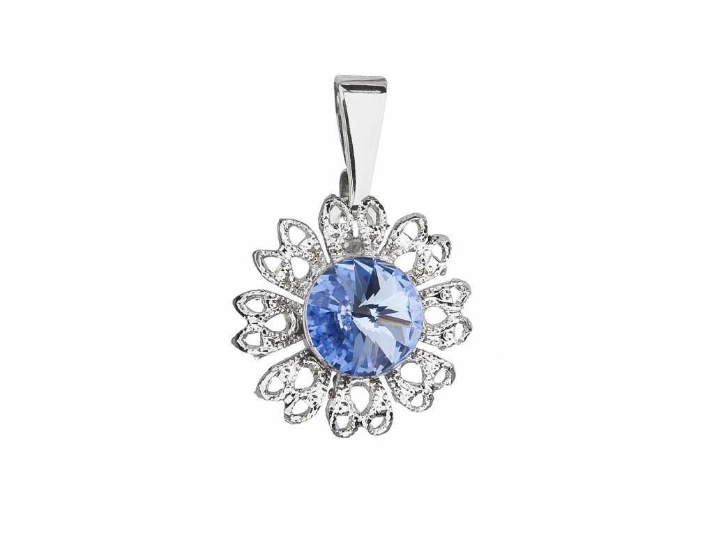 Přívěsek bižuterie se Swarovski krystaly modrá kytička 54032.3 light sapphire