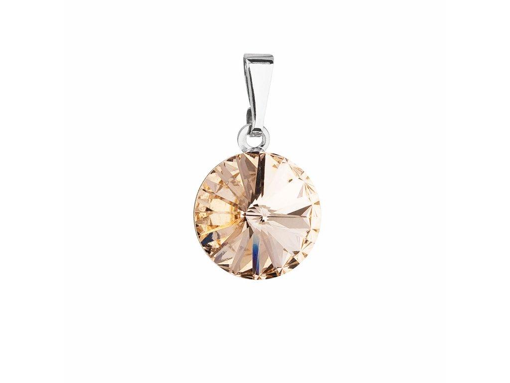 Přívěsek bižuterie se Swarovski krystaly oranžový kulatý 54001.3