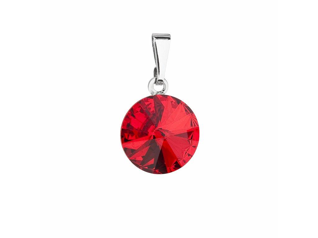 Přívěsek bižuterie se Swarovski krystaly červený kulatý 54001.3