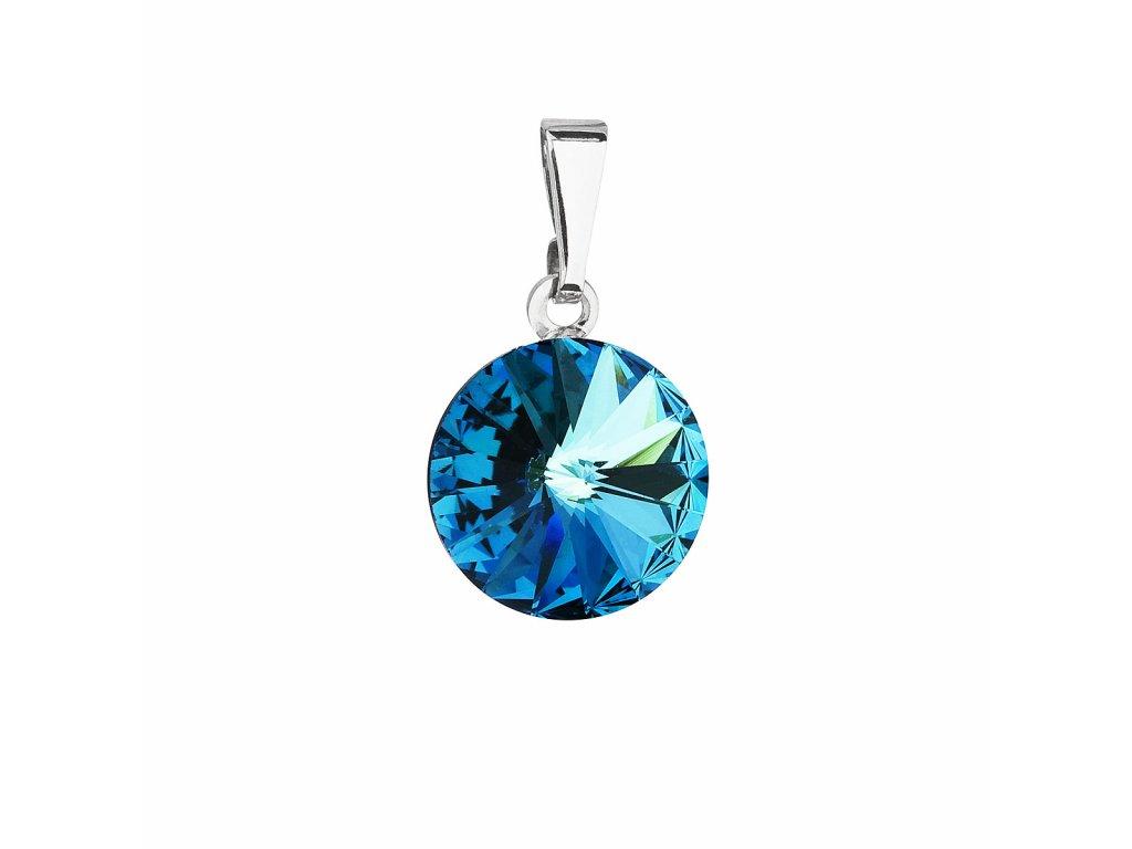 Přívěsek bižuterie se Swarovski krystaly modrý kulatý 54001.5