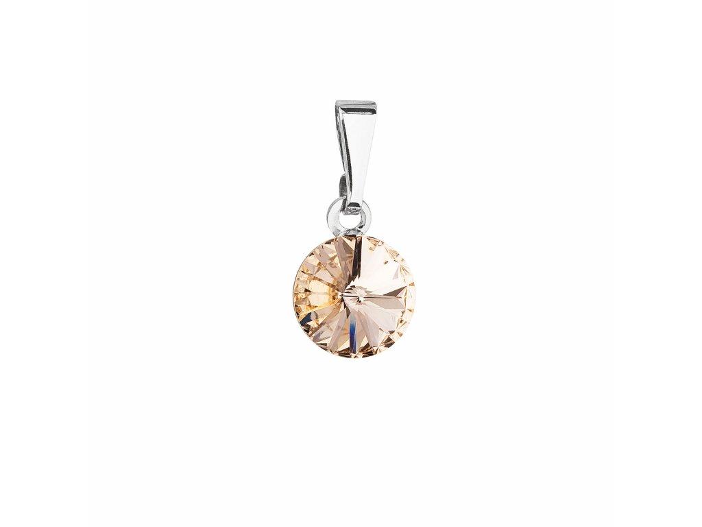 Přívěsek bižuterie se Swarovski krystaly oranžový kulatý 54018.3