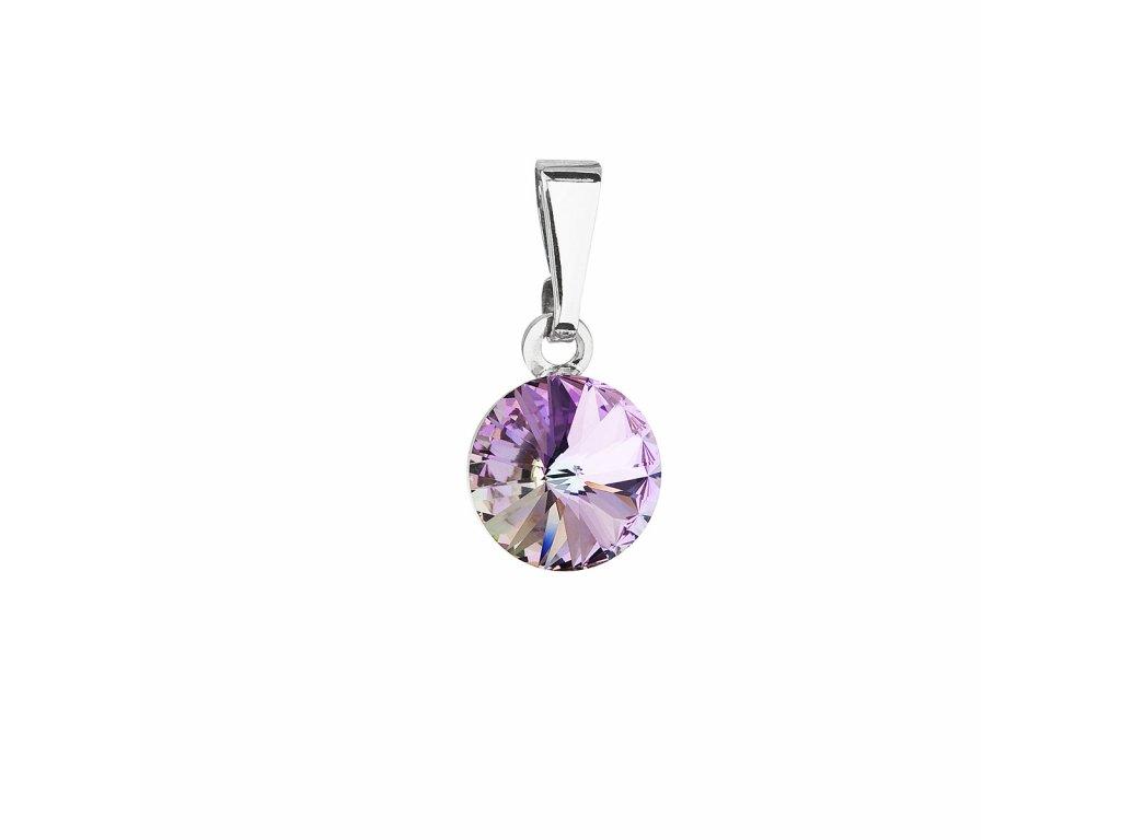Přívěsek bižuterie se Swarovski krystaly fialový kulatý 54018.5