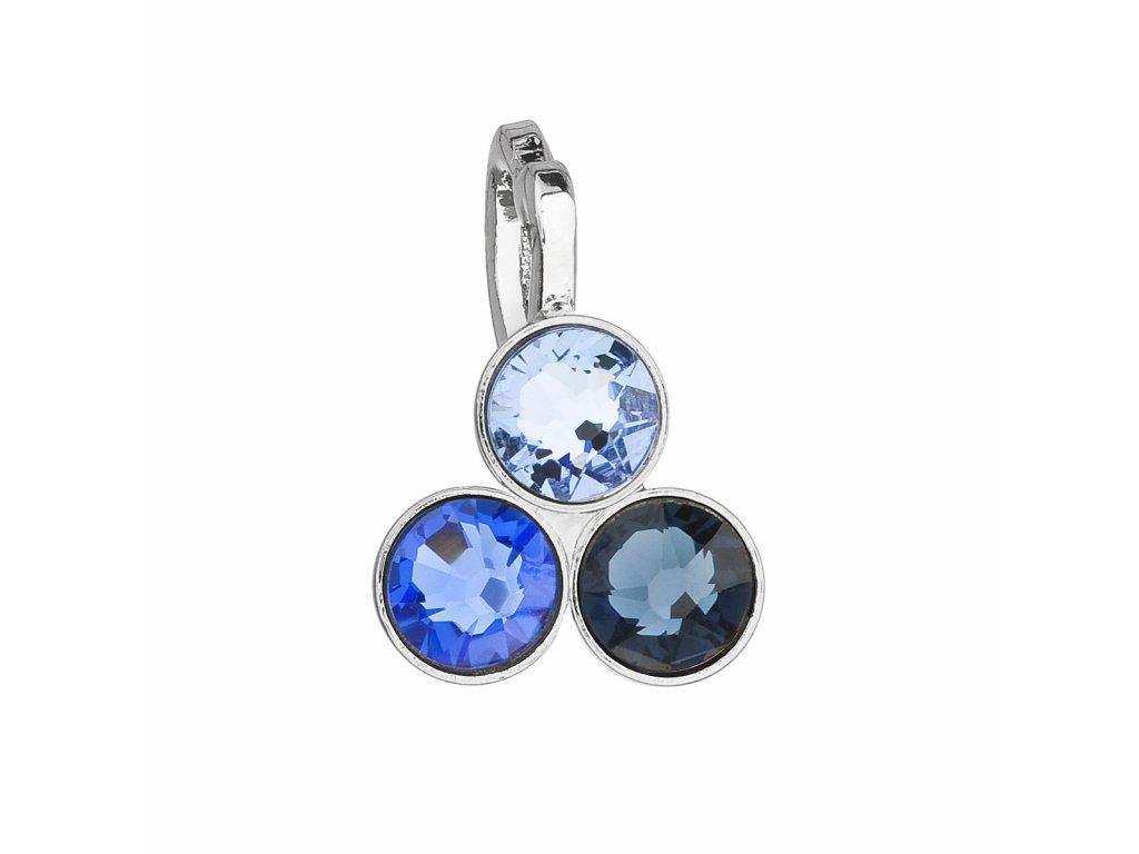 Přívěsek bižuterie se Swarovski krystaly modrý 54030.3