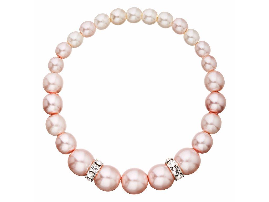 Perlový náramek růžový 33091.3