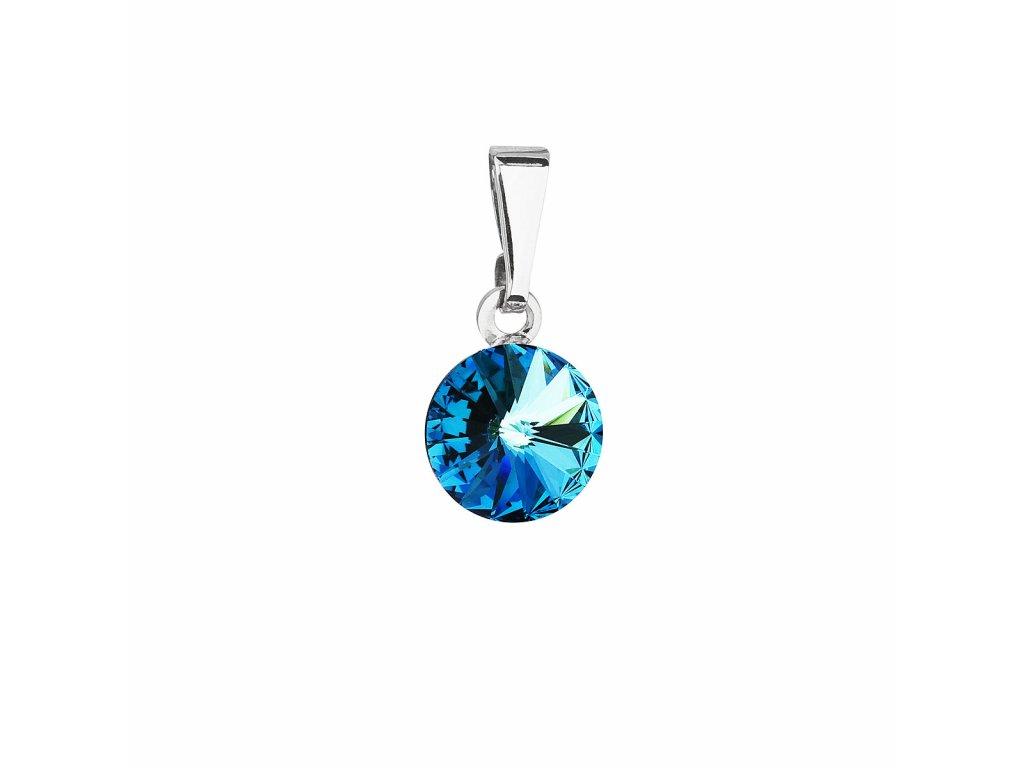 Přívěsek bižuterie se Swarovski krystaly modrý kulatý 54018.5