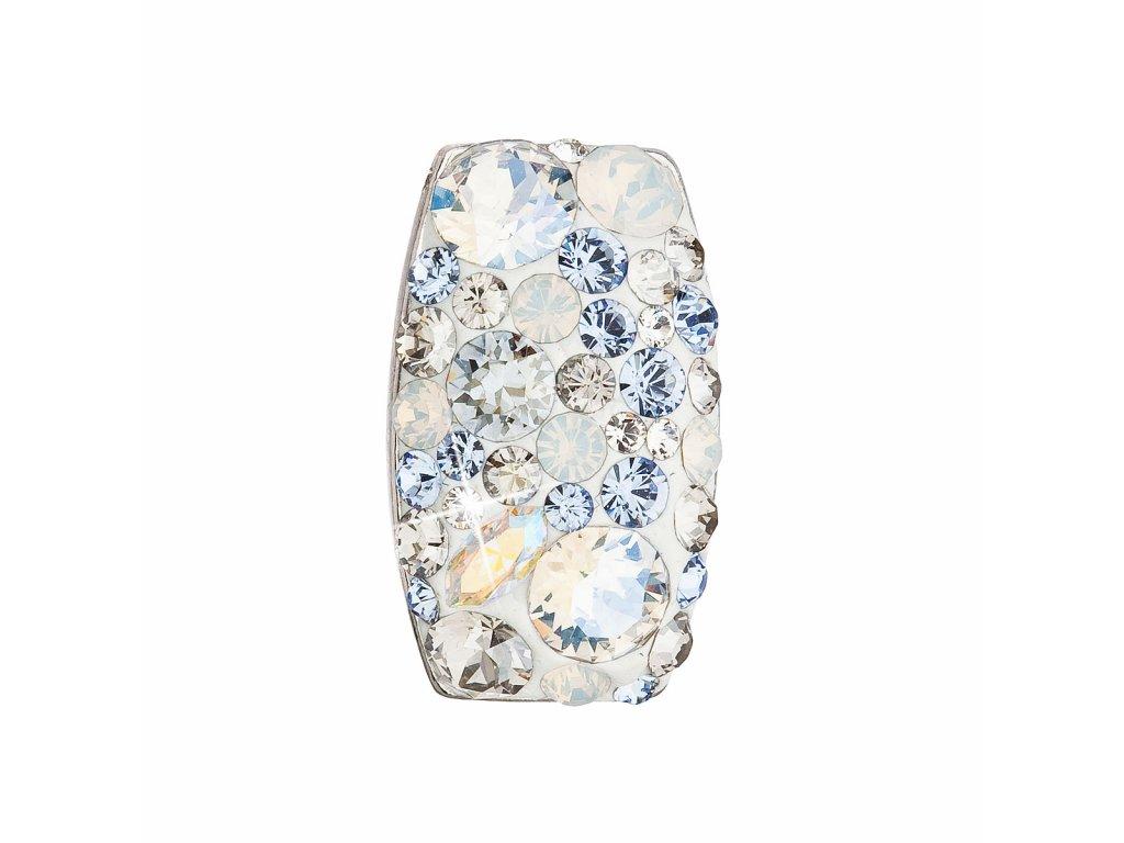 Stříbrný přívěsek s krystaly Swarovski modrý obdélník 34194.3 light sapphire
