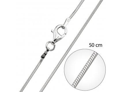Stříbrný řetízek kulatý délka 50 cm 30012
