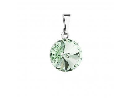Přívěsek bižuterie se Swarovski krystaly zelený kulatý 54001.3