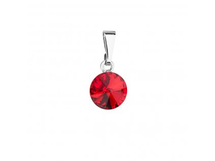 Přívěsek bižuterie se Swarovski krystaly červený kulatý 54018.3