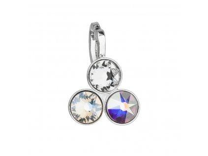 Přívěsek bižuterie se Swarovski krystaly bílý kulatý 54030.1