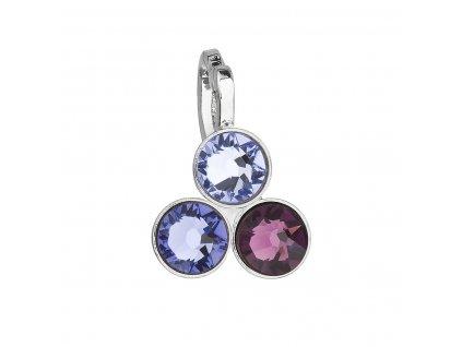 Přívěsek bižuterie se Swarovski krystaly fialový 54030.3