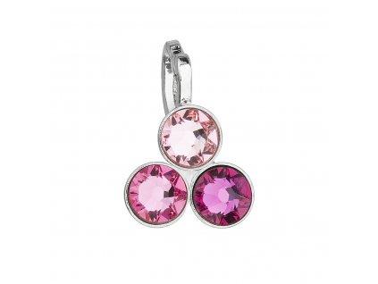 Přívěsek bižuterie se Swarovski krystaly růžový 54030.3
