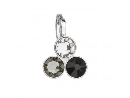 Přívěsek bižuterie se Swarovski krystaly černý 54030.3