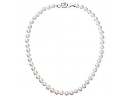 Perlový náhrdelník z pravých říčních perel bílý 22007.1
