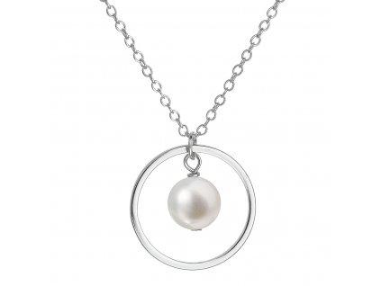 Perlový náhrdelník z pravých říčních perel bílý 22018.1